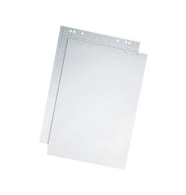 Flipchartblock kariert/blanko weiß 65 x 100cm 50 Blatt 2 Blöcke