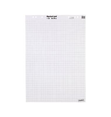 Flipchartblock kariert/blanko weiß 68 x99cm 20 Blatt 5 Blöcke