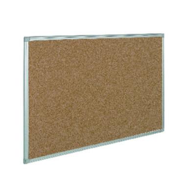 Pinnwand, 60x45cm, Kork, Aluminiumrahmen, braun