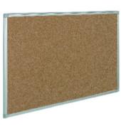 Pinnwand, 90x60cm, Kork, Aluminiumrahmen, braun