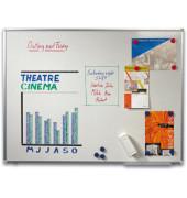 Whiteboard 90 x 60cm emailliert Aluminiumrahmen