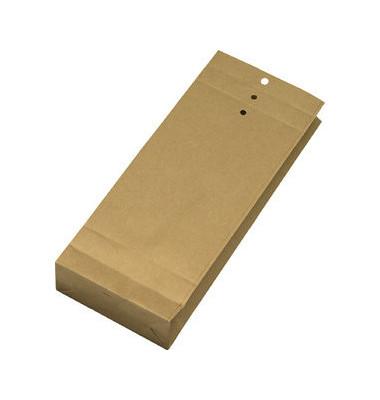 Musterbeutel gerillt/gelocht 120g braun 140x345x50mm 250 Stück