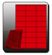 NEON Etiketten PINK 6901 70 x 36 mm 600 Stück