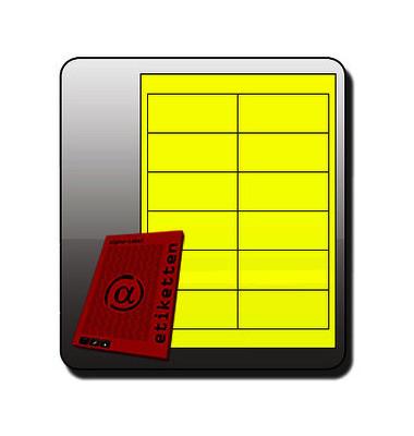 NEON Etiketten GELB 6902 97 x 42,3 mm 300 Stück