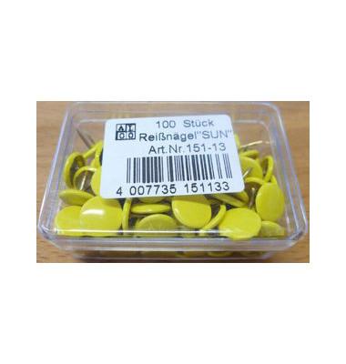 Reissnägel plastiküberzogen gelb 100 St