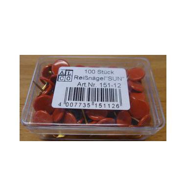 Reissnägel plastiküberzogen rot 100 St
