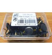 Reissnägel plastiküberzogen schwarz 100 St