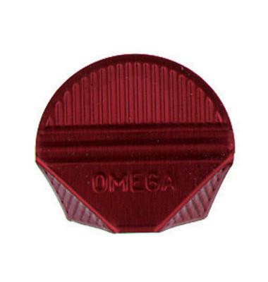 Eckenklammern Omega einseitig rot lackiert bis 10 Blatt Aluminium 1000 Stück