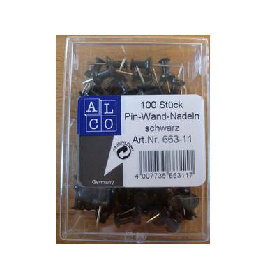 Pinnadeln schwarz 100 St