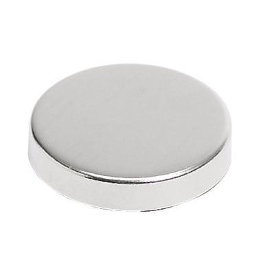 Haftmagnete rund Ø 22 mm, 4 mm, Haftkraft: 800 g, silber (10 stk)