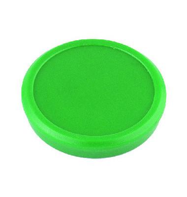 Haftmagnete rund grün 24mm 10 St