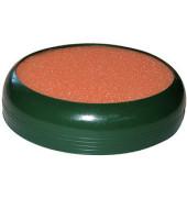 Fingeranfeuchter rund 10cm dunkelgrün Schwamm orange