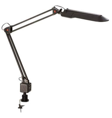Schreibtischlampe 957-11, Energiesparlampe, mit Tischklemme, schwarz