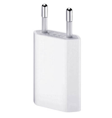 USB Power Adapter f.iPhone 4 weiß 5 W MP-3