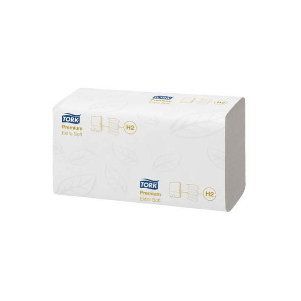 Tork Papierhandtücher 100297 Xpress Premium extra soft H2 Multifold 21 x 34 cm TAD hochweiß 2-lagig 2100 Tücher