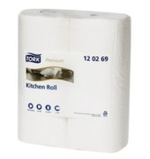 Küchenrollen 120269 Extra absorbent 2-lagig weiß 2 Rollen à 64 Blatt