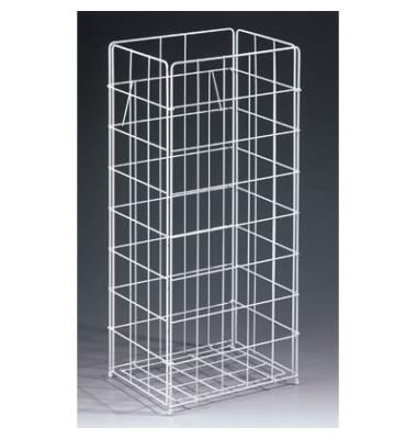 Papierkorb Drahtgitterkorb für Papierhandtücher 229750 Littainer 60 Liter weiß