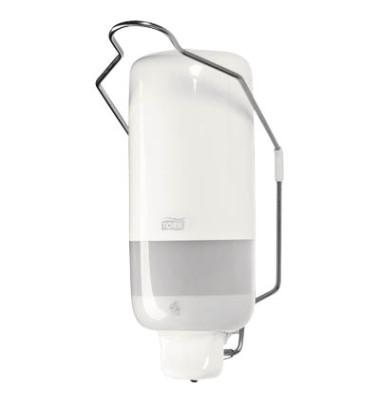 Seifenspender mit Armhebel weiß 11x21x11cm