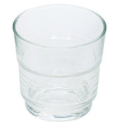Trinkglas Spirale 200ml Glas 77x77mm 6 Stück stapelbar