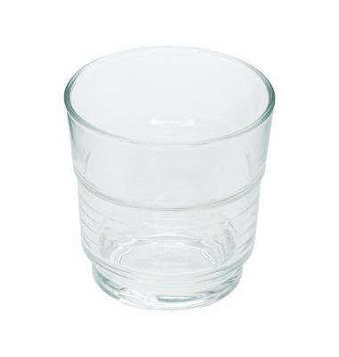 Trinkglas Spirale stapelbar 200 ml 77x77 mm 6 Stück
