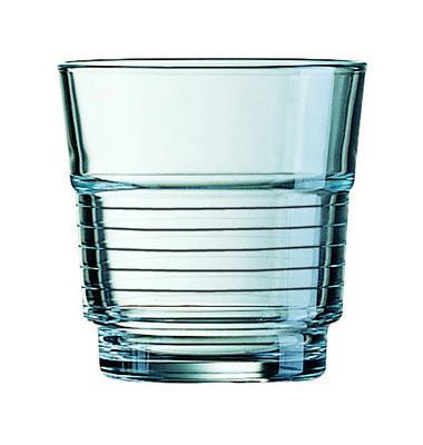 Trinkglas Spirale 250ml Glas 82x84mm 6 Stück stapelbar