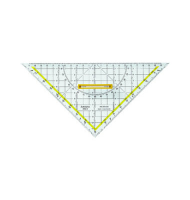 Kunststoff-Geodreieck TZ-Dreieck 1650/4 glasklar 25cm mit abnehmbarem Griff