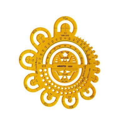 Abrundung Radien Ø 0,5-40mm 16,2 x 16,2cm orange