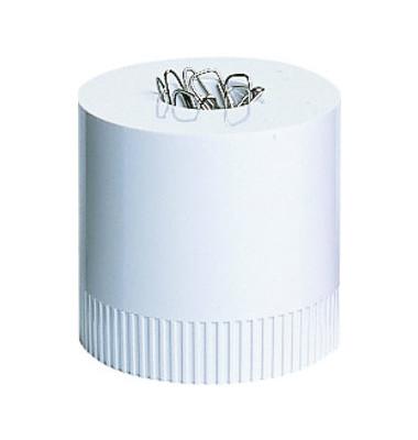 Klammernspender Clip-Boy gefüllt weiß 70x70mm