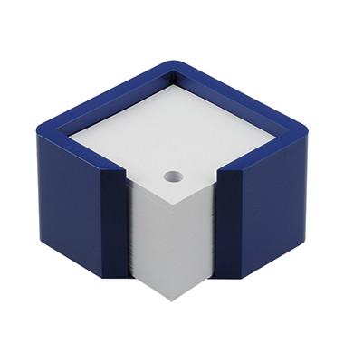 Zettelbox memorion 125 x 125 x 80mm royalblau Inhalt 100 x 100mm weiß 600 Blatt