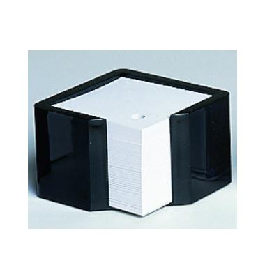 Zettelbox memorion 125 x 125 x 80mm schwarz Inhalt 100 x 100mm weiß 600 Blatt