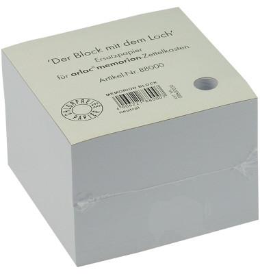 Notizzettel  für memorion 100 x 100mm weiß 600 Blatt