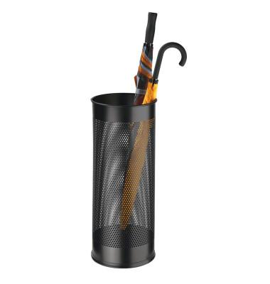 Schirmständer 3350-01, Metall, rund, schwarz
