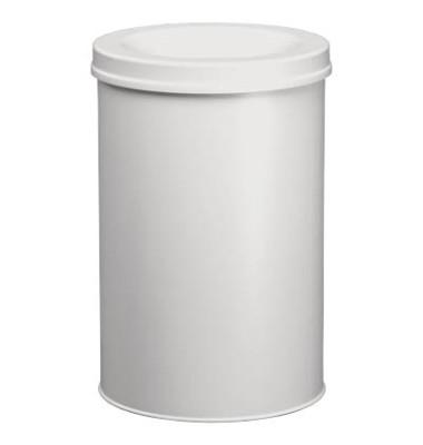 Stahlpapierkorb 30 Liter mit Flammenlöschkopf grau
