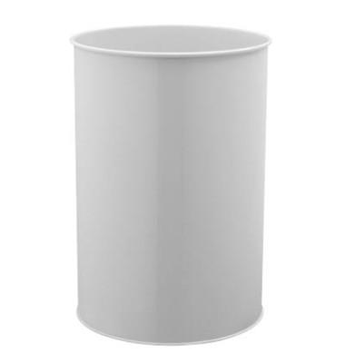 Stahlpapierkorb 30 Liter grau