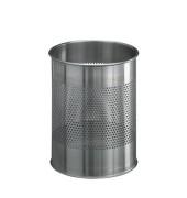 Stahlpapierkorb 15 Liter Edelstahl 20 Reihen perf.