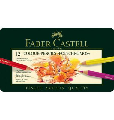 Farbstifte im Metalletui sortiert 12 Farben Polychromos
