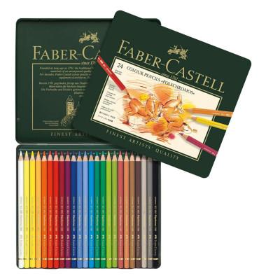 Farbstifte im Metalletui sortiert 24 Farben Polychromos