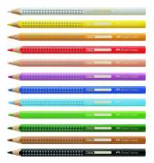 Farbstift Jumbo GRIP, Schreibf.: helioblau rötlich