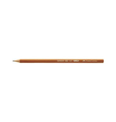 Bleistift 111700 naturbraun HB
