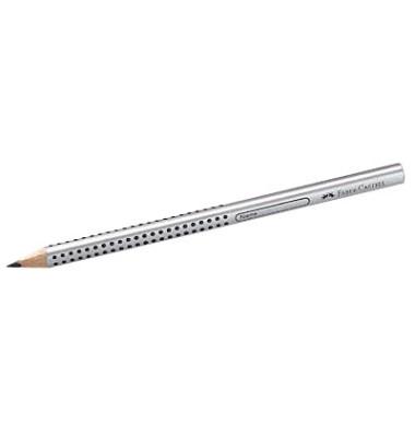 Bleistifte Jumbo Grip mit Soft-Grip silber B