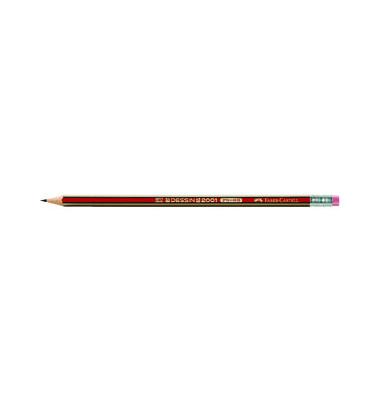 Bleistifte Dessin 2001 HB mit Radierer