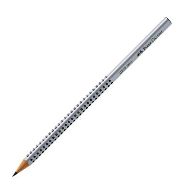 Bleistifte Grip 2001 B silber 3-eckig mit Soft-Grip Zone