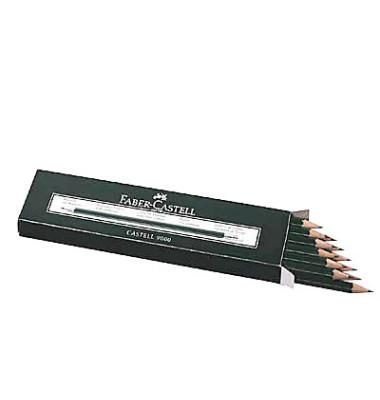 Bleistift Castell 9000 HB mit Radierer