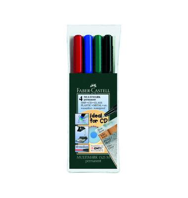 Folienstift Multimark 1513 F farbig sortiert 0,6 mm 4er-Etui permanent