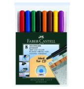 Folienstift Multimark 1513 F farbig sortiert 0,6 mm 8er-Etui permanent