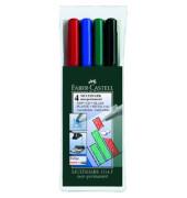 Folienstift Multimark 1514 F farbig sortiert 0,6 mm 4er-Etui non-permanent
