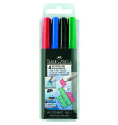 Folienstift Multimark 1524 S farbig sortiert 0,4 mm 4er-Etui non-permanent