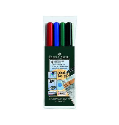 Folienstift Multimark 1525 M farbig sortiert 1,0 mm 4er Etui permanent