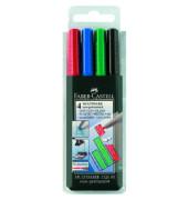 Folienstift Multimark 1526 M farbig sortiert 1,0 mm 4er Etui non-permanent