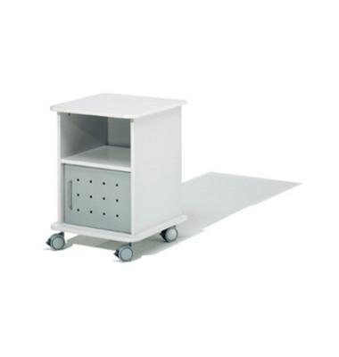 Druckerwagen, Unterschrank lichtgrau 50x50x70cm bis 100 kg belastbar